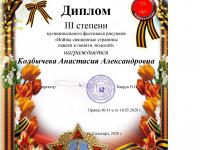 Диплом Колбычева