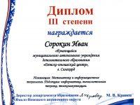 Диплом Сорокин